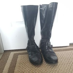Shoes - Black Motorcycle Style Boots 8 1/2 W